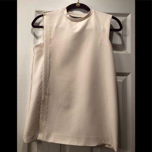 Zara Basic Off White Sleeveless Top